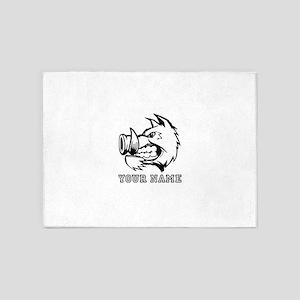 Razorback Boar (Custom) 5'x7'Area Rug
