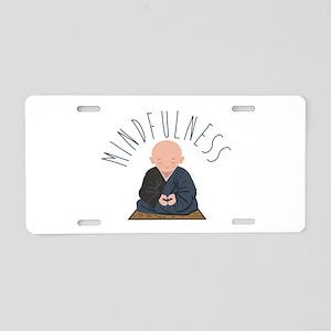 Meditation Mindfulness Aluminum License Plate