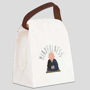 Meditation Mindfulness Canvas Lunch Bag