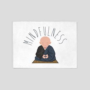 Meditation Mindfulness 5'x7'Area Rug