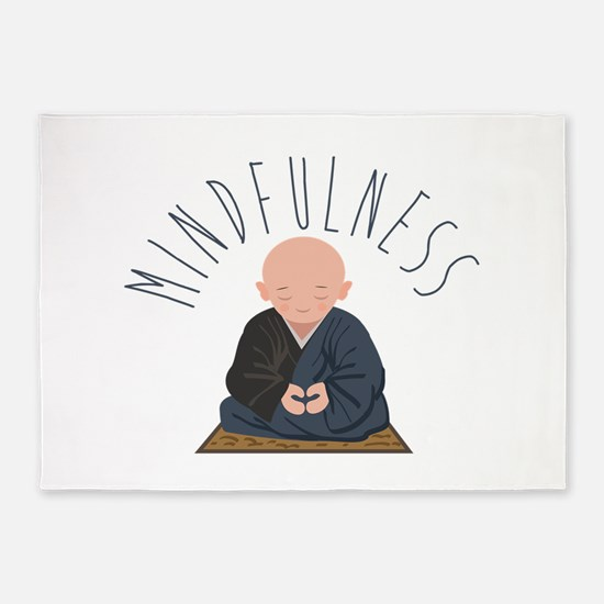 Meditation Mindfulness 5x7Area Rug