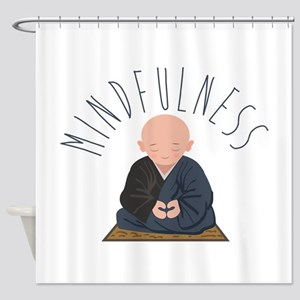 Meditation Mindfulness Shower Curtain