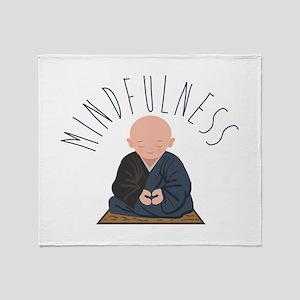 Meditation Mindfulness Throw Blanket