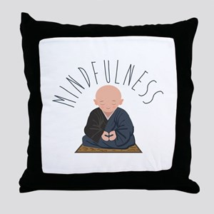 Meditation Mindfulness Throw Pillow