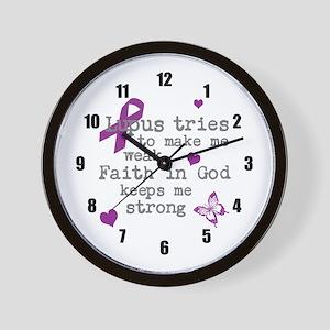 Lupus Weak God Strong Wall Clock