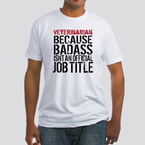 Veterinarian Badass Job Title T-Shirt