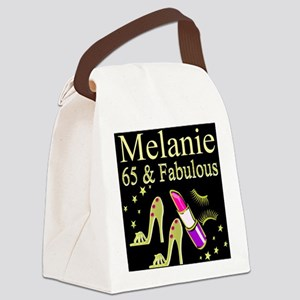 DAZZLING 65TH Canvas Lunch Bag