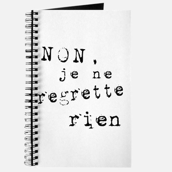 Je Ne Regrette Rien Journal