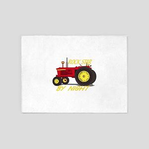 Rock Star Tractor 5'x7'Area Rug