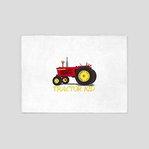 Tractor Kid 5'x7'Area Rug