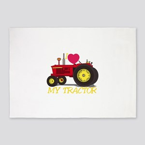 I Love My Tractor 5'x7'Area Rug