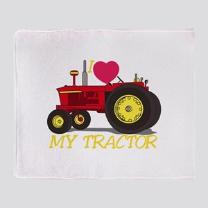 I Love My Tractor Throw Blanket