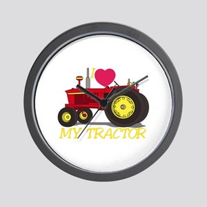 I Love My Tractor Wall Clock