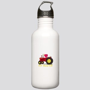 I Love My Tractor Water Bottle