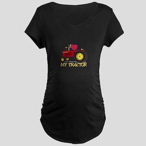 I Love My Tractor Maternity T-Shirt