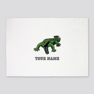 Mean Alligator (Custom) 5'x7'Area Rug