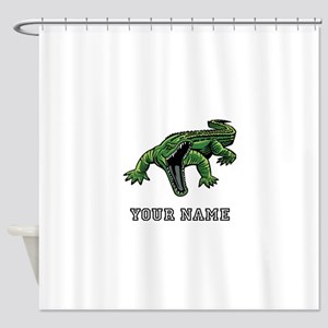 Mean Alligator (Custom) Shower Curtain