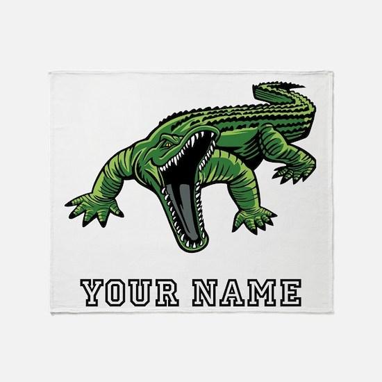Mean Alligator (Custom) Throw Blanket