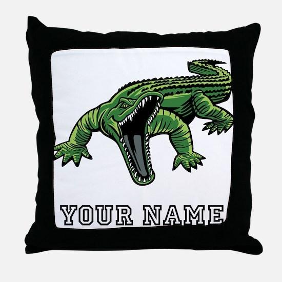 Mean Alligator (Custom) Throw Pillow