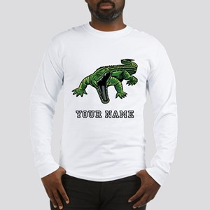 Mean Alligator (Custom) Long Sleeve T-Shirt
