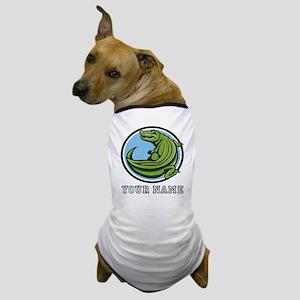 Green Alligator (Custom) Dog T-Shirt