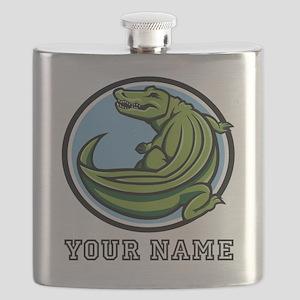 Green Alligator (Custom) Flask