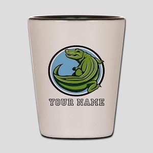 Green Alligator (Custom) Shot Glass