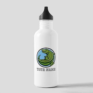 Green Alligator (Custom) Water Bottle