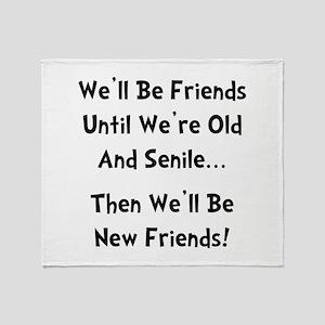 New Friends Throw Blanket