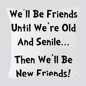 New Friends Woven Throw Pillow