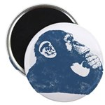 A Thoughtful Monkey 2 Magnets