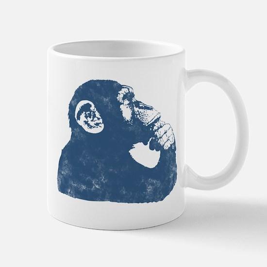 A Thoughtful Monkey 2 Mugs