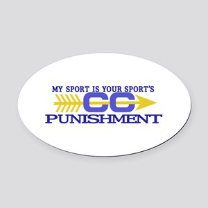 My Sport/Punishment Oval Car Magnet