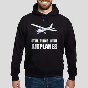 Plays With Airplanes Hoodie (dark)