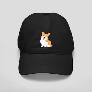 Cute Corgi Dog Black Cap
