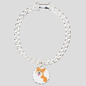Cute Corgi Dog Charm Bracelet, One Charm