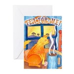 Tea for Me (Cat) Greeting Cards (Pk of 20)