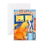 Tea for Me (Cat) Greeting Card