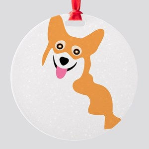 Cute Corgi Dog Round Ornament