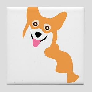 Cute Corgi Dog Tile Coaster