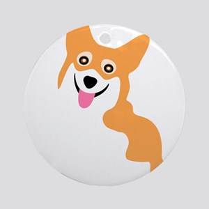 Cute Corgi Dog Ornament (Round)