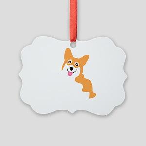 Cute Corgi Dog Picture Ornament