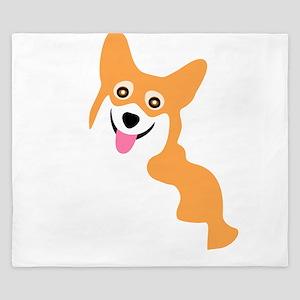 Cute Corgi Dog King Duvet