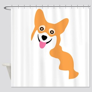 Cute Corgi Dog Shower Curtain