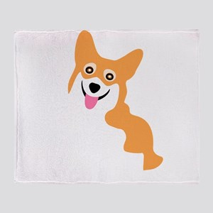 Cute Corgi Dog Throw Blanket