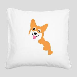 Cute Corgi Dog Square Canvas Pillow