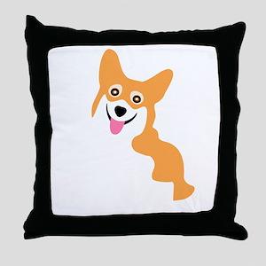 Cute Corgi Dog Throw Pillow