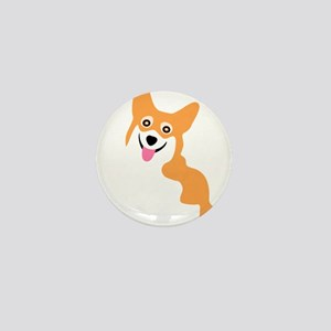 Cute Corgi Dog Mini Button