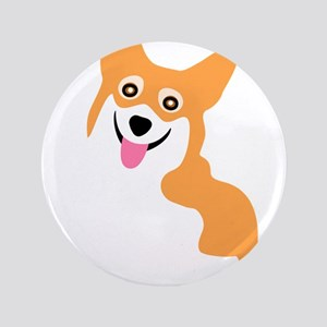 Cute Corgi Dog Button