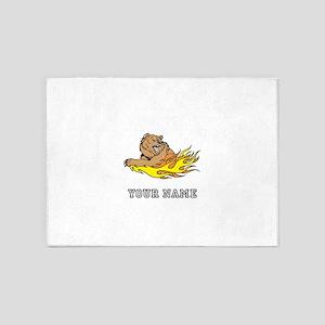 Fire Bear (Custom) 5'x7'Area Rug